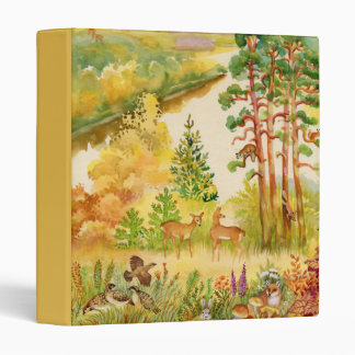 Watercolor Autumn Scene Binder
