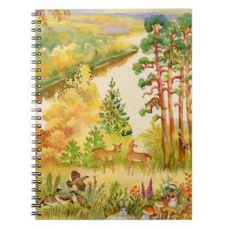 Watercolor Autumn Scene Notebook