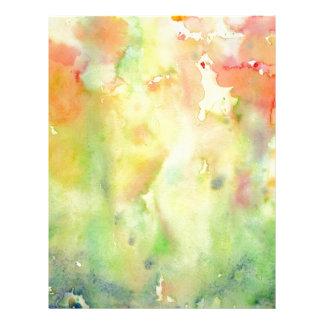 Watercolor autumn Woodland Letterhead