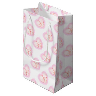 Watercolor Baby Twins Baby shower Maternity Small Gift Bag