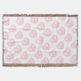 Watercolor Baby Twins Baby shower Maternity Throw Blanket