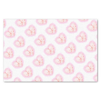 Watercolor Baby Twins Baby shower Maternity Tissue Paper