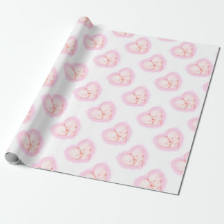 Watercolor Baby Twins Baby shower Maternity Wrapping Paper