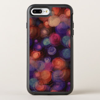 watercolor background dots / circles OtterBox symmetry iPhone 7 plus case