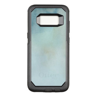 watercolor background in pastel blue and yellow OtterBox commuter samsung galaxy s8 case