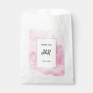 Watercolor background Romantic wedding in pink Favour Bag