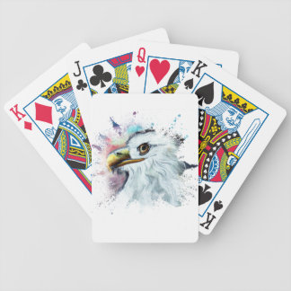 Watercolor Bald Eagle Bicycle Playing Cards