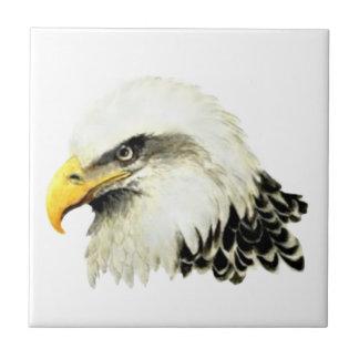 Watercolor Bald Eagle Bird Wildlife Art Ceramic Tiles