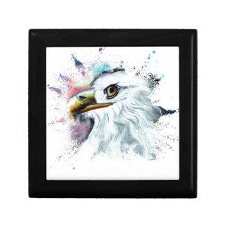 Watercolor Bald Eagle Gift Box