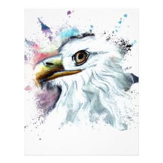 Watercolor Bald Eagle Letterhead
