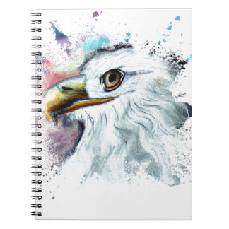 Watercolor Bald Eagle Notebook