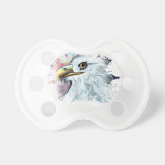 Watercolor Bald Eagle Pacifier