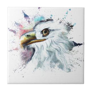 Watercolor Bald Eagle Tile