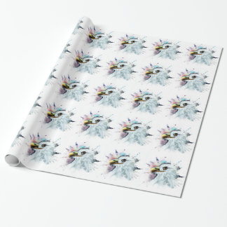 Watercolor Bald Eagle Wrapping Paper