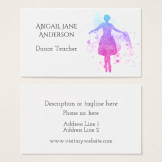 Watercolor Ballet Dancer - Easy to Personalize Business Card