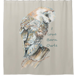 Watercolor Barn Owl Bird with quote
