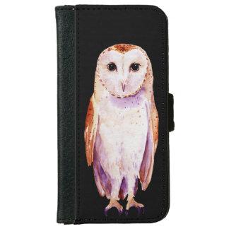 Watercolor barn Owl Wallet Case