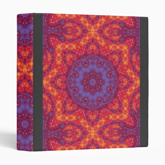 Watercolor Batik Mandala in Bright Sunset Colors Binders