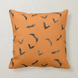 Watercolor Bats Halloween Throw Pillow