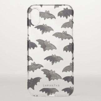 Watercolor Bats iPhone X Case