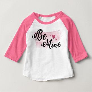 Watercolor Be Mine valentine Baseball Style Shirt