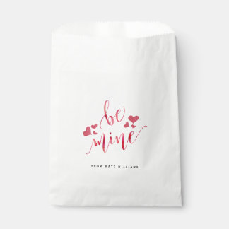 Watercolor Be Mine Valentine's Day Favour Bag