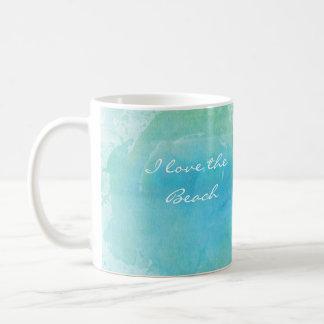 Watercolor Beach Ocean Sea Coffee Mug Personalized