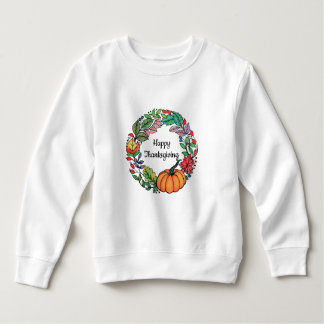 Watercolor Beautiful Pumpkin Wreath with leaves Sweatshirt