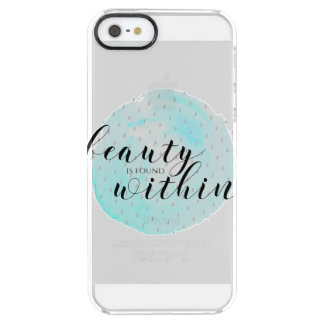 Watercolor Beauty Quote Clear iPhone SE/5/5s Case