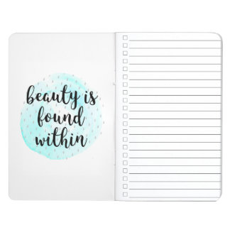 Watercolor Beauty Quote Journal
