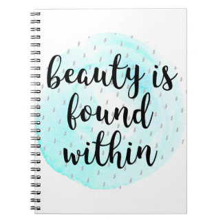 Watercolor Beauty Quote Notebook