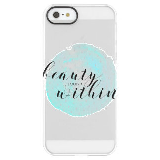 Watercolor Beauty Quote Permafrost® iPhone SE/5/5s Case