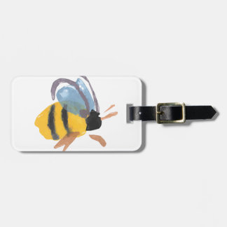 Watercolor Bee Luggage Tag