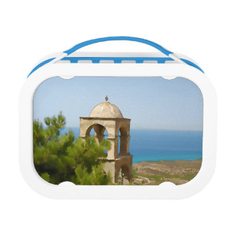 Watercolor bell tower lunch box
