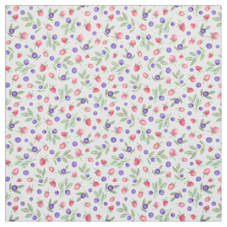 Watercolor berries fabric