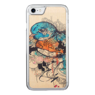 watercolor bird animal art wood iPhone Carved iPhone 7 Case