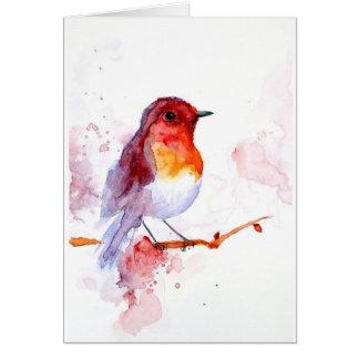 watercolor bird card