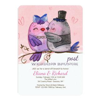 Watercolor Bird Couple Invitation