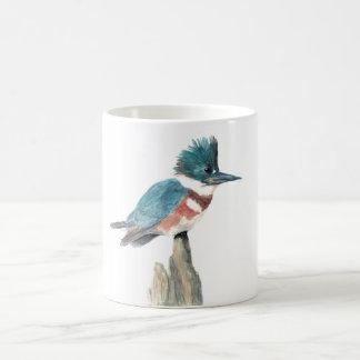 Watercolor bird mug: Belted Kingfisher Coffee Mug