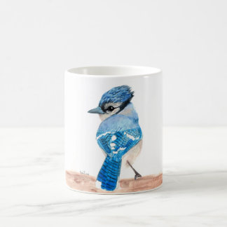 Watercolor bird mug: Blue Jay Coffee Mug