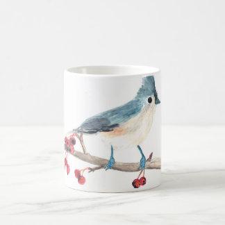 Watercolor bird mug: Tufted Titmouse Coffee Mug