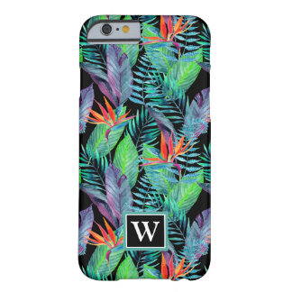 Watercolor Bird Of Paradise | Add Your Initial Barely There iPhone 6 Case