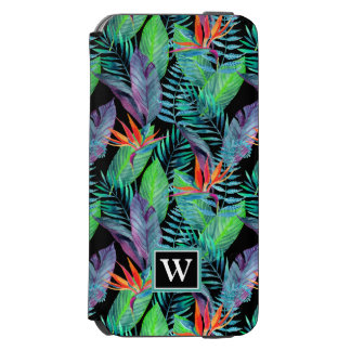 Watercolor Bird Of Paradise | Add Your Initial Incipio Watson™ iPhone 6 Wallet Case