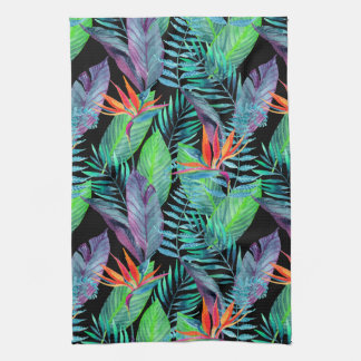 Watercolor Bird Of Paradise Kitchen Towel