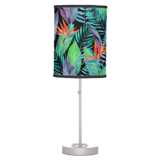 Watercolor Bird Of Paradise Table Lamp