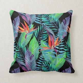 Watercolor Bird Of Paradise Throw Pillow