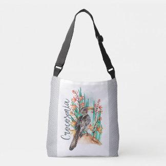 Watercolor Bird painting Crossbody Bag