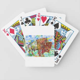 watercolor BISON .1 Bicycle Playing Cards