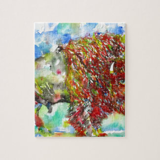 watercolor BISON .1 Jigsaw Puzzle