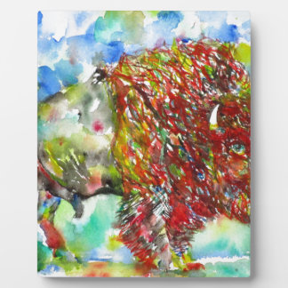 watercolor BISON .1 Plaque